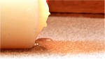 How to get rid of a wax stain on a couch